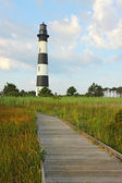 The Bodie Island lighthouse on the Outer Banks of North Carolina — Стоковое фото