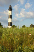 Bodie lighthouse island z bagna pionowe — Zdjęcie stockowe