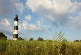 The Bodie Island lighthouse from the marshes — Stock Photo