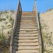 Stairway to a public beach access vertical — Stockfoto