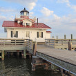 The Roanoke Marshes Lighthouse in Manteo, North Carolina — Stockfoto