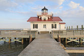 The Roanoke Marshes Lighthouse in Manteo, North Carolina — Zdjęcie stockowe