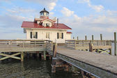 The Roanoke Marshes Lighthouse in Manteo, North Carolina — Stock fotografie