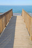 Walkway to a public beach access vertical — Stock Photo