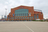 The front entrance to Lucas Oil Stadium in Indianapolis, Indiana — Photo