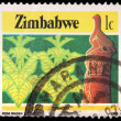 A 1-cent stamp printed in Zimbabwe — Stock Photo