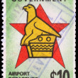 A 10-dollar stamp printed in Zimbabwe — Stock Photo
