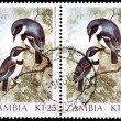 Two 1.25-kwacha stamps printed in Zambia — Stockfoto
