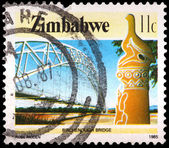 An 11-cent stamp printed in Zimbabwe — Stock Photo
