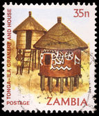A 35-ngwee stamp printed in Zambia — Stock Photo