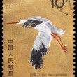Royalty-Free Stock Photo: A 10-fen stamp printed in China