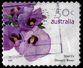 A 50-cent stamp printed in Australia — Stock Photo