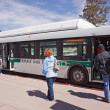 Boarding the shuttle bus at Grand Canyon Visitor's center — Stock Photo #9517448