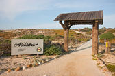 Entrance sign to Asilomar State Park and Conference Grounds near — Stok fotoğraf