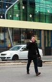 Biznesmen w mieście — Zdjęcie stockowe