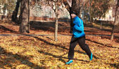 Man running in a park — Stock Photo
