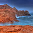 Pink Granite Coast — Stock Photo