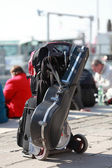 Musician's luggage — Stock Photo