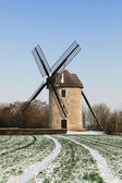 Traditional windmill in winter — Stock Photo
