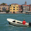 Motor boat in Venice — Stock Photo