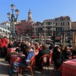 Terrace in Venice — Stock Photo