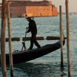 Stock Photo: Gondolier