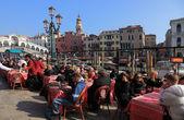 Terrace in Venice — Stock Photo
