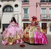 Venetian costumes — Stock Photo