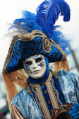Blue Venetian costume — Stock Photo