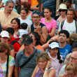 Crowd of tourists — Stock Photo