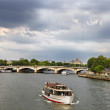 Touristic ship on Seine — Stock Photo