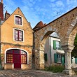 Stock Photo: Saint Hilaire Square in Le Mans,France