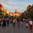 Stock Photo: Evening in Disneyland, Paris