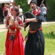 Medieval Oriental entertainers - Foto Stock