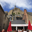 Terrace at Mont Saint Michel — Stock Photo
