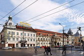 Downtown in Cluj Napoca — Stock Photo
