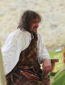 Portrait of a medieval Scotsman — Stock Photo