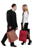Man and woman shopping — Stock Photo