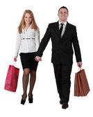 Pareja de compras — Foto de Stock