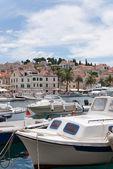 Hvar and its harbor — Stock Photo