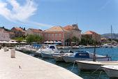 The harbor of stari grad — Stock Photo