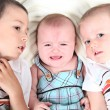 Two boys Kissing there Sister — Stock Photo #8536077