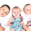 Two boys Kissing there Sister — Stock Photo #8536099
