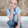 Cute little boy posing for camera — Stock Photo