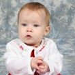 Stock Photo: Baby Girl in Christmas Dress 2