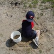 Boy playing in sand — Stock Photo #8999766