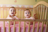 Twin Baby Girls — Stock Photo