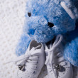 Baby Shoes and Teddy 2 — Stock Photo