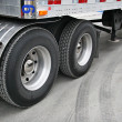 Transport truck tires - Stock Photo