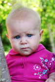 Baby Girl in Trees — Stock Photo